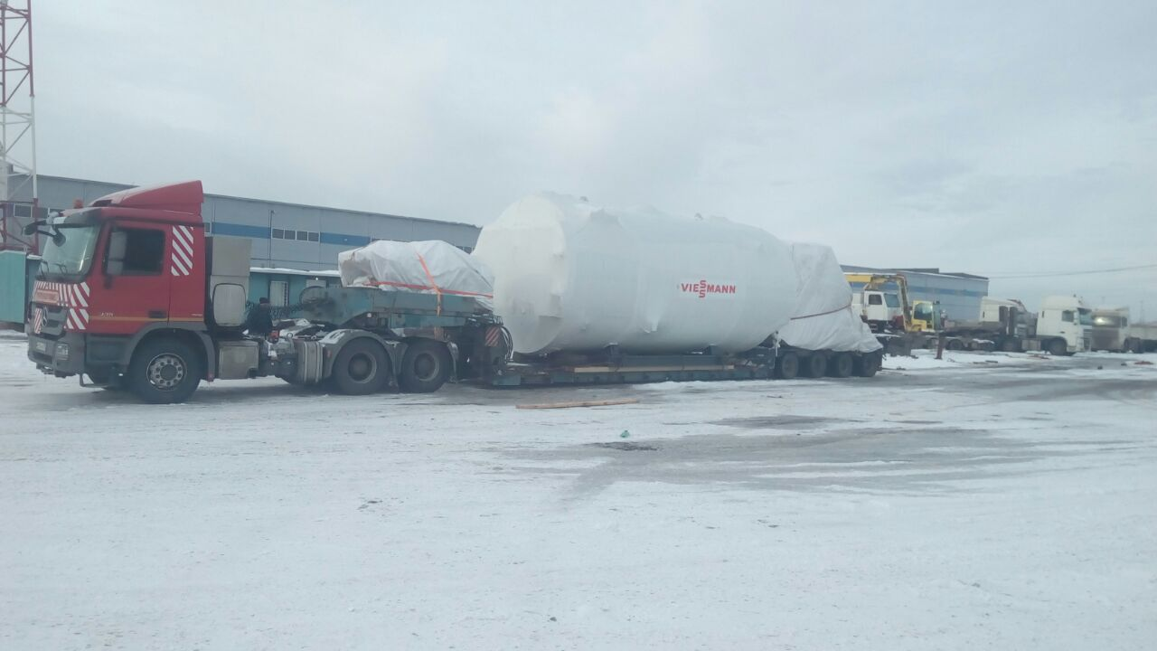 Supply of an industrial boiler with accessories to Altai Russia